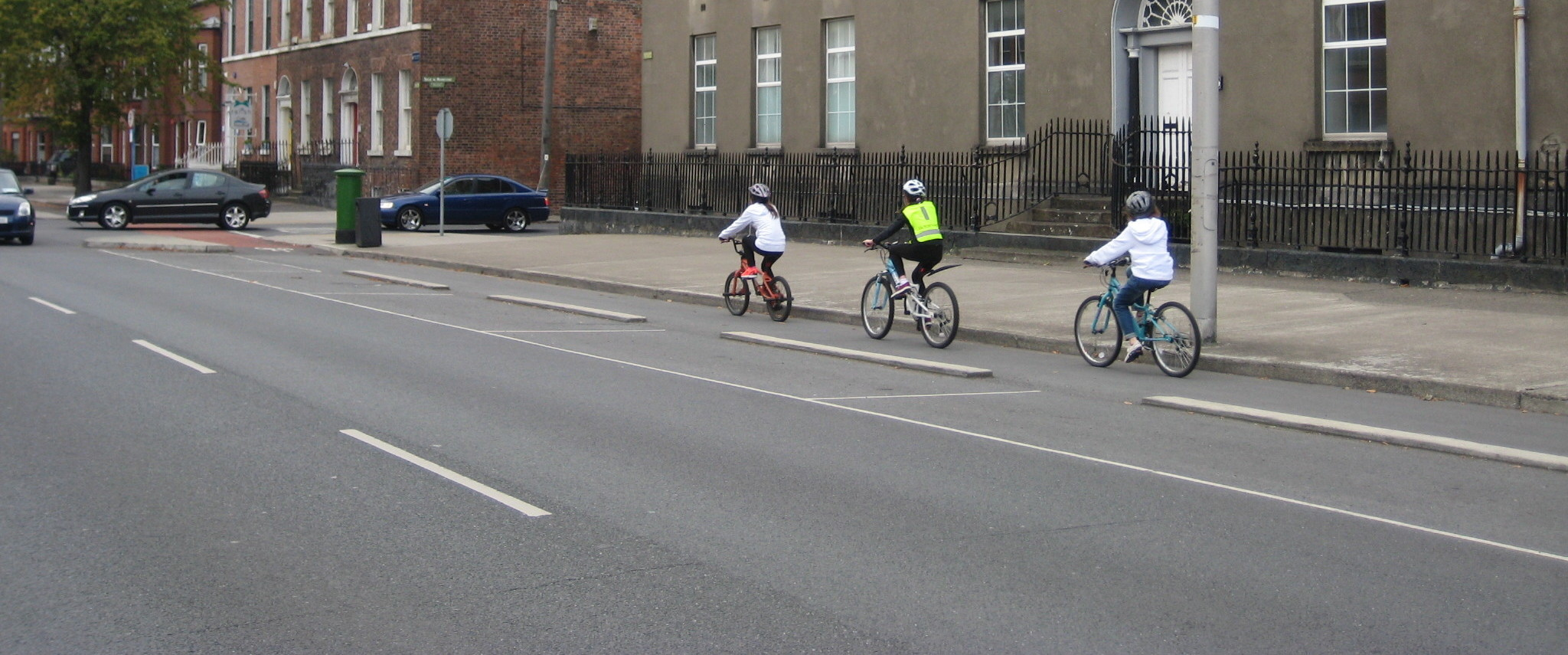 We work to promote safe cycling to schools
